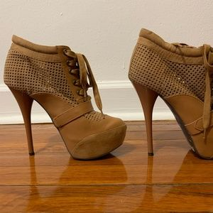 High Heel Brown Ankle Boot